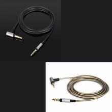 4ft/6ft substituição atualização prata chapeado cabo de áudio para sony WH 1000XM2 1000xm3 xm4 WH H800 WH 900N fones de ouvido
