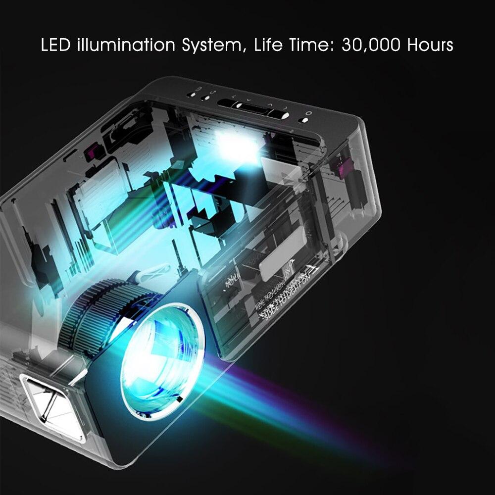Alston t6 hd completo projetor led 4k 3500 lumens hdmi usb 1080p portátil cinema proyector beamer com presente misterioso-5
