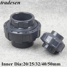 1 sztuk 20mm 25mm 32mm 40mm 50mm ID UPVC Union łączniki rurowe złącza wody do nawadnianie ogrodu system hydroponiczny