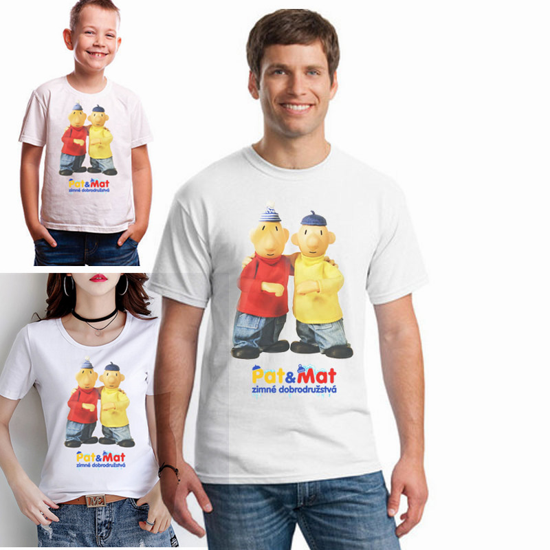 Pat And Mat T Shirt Classic Czech Puppet Cartoon T Shirt Puzzle Adventure Best Friend Tee Shirt The Whole Family Together Tshirt