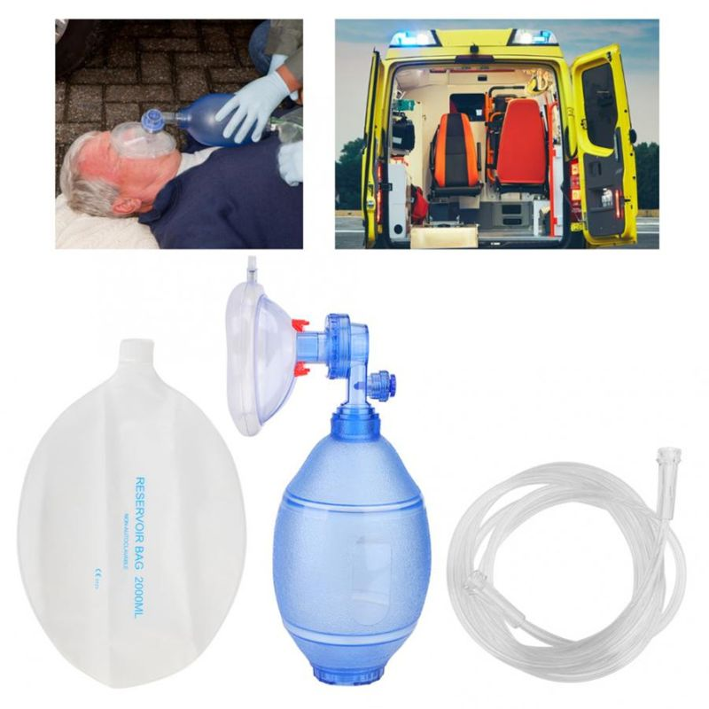Adults/Children/Infants Manual Resuscitator PVC Ambu Bag Oxygen Tube First Aid Kit Simple Breathing Apparatus Tools