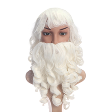 Wig Cristmas-Decoration Santa-Claus Beard And for Wig-Set Costume