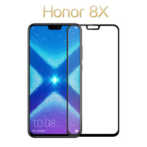 For Huawei Honor 8X Tempered Glass 9D Cover Screen Protector for huawei honor 8x 8a 8c pro Glass Tempered Protective Film(China)