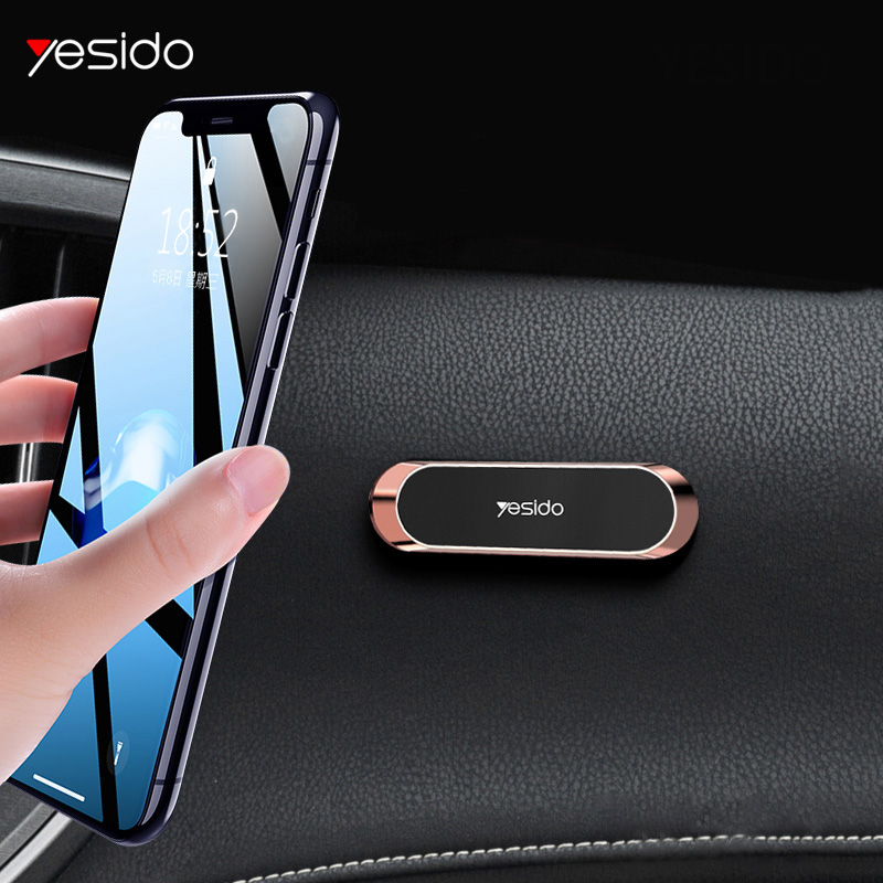 Yesido Mini Magnetic Car Phone Holder Strip Shape Stand For IPhone Samsung Xiaomi Huawei Metal Magnet GPS Car Mount Dashboard