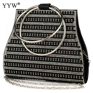 Image 2 - Yyw sacos para as mulheres 2019 moda europeia alça redonda bolsa mini noite saco de embreagem cor ouro casamento tote bolsas garras