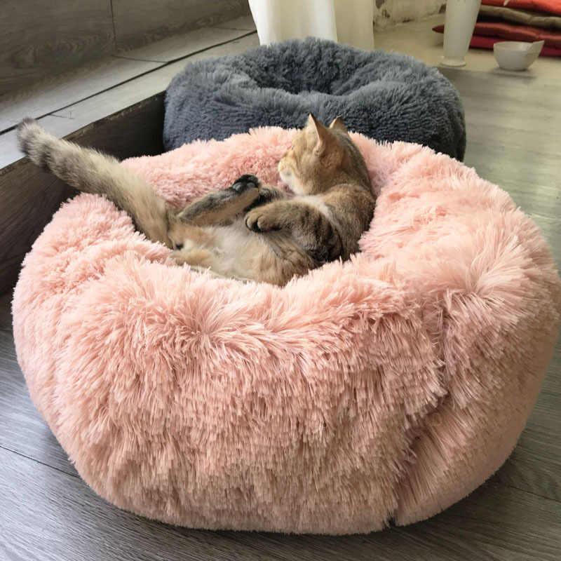 NMDD Cama Redonda para Mascotas Cuna Ajustable para Mascotas Coj/ín c/ómodo para Perros y Gatos Cachorro Suave Gatito Descanso para Dormir Perrera Sof/á c/álido para Mascotas para Mascotas peque/ñas y