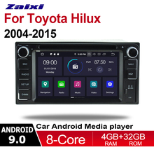 цена на ZaiXi 2 Din Car Multimedia Player Android 9 Auto Radio For Toyota Hilux 2004~2015 DVD GPS 8 Cores 4GB+32GB Bluetooth