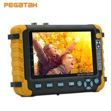5 дюймов AHD 5MP 4MP 1080P TVI CVI аналоговая видео камера безопасности CCTV тестер монитор Поддержка HDMI/VGA вход сетевой кабель тест