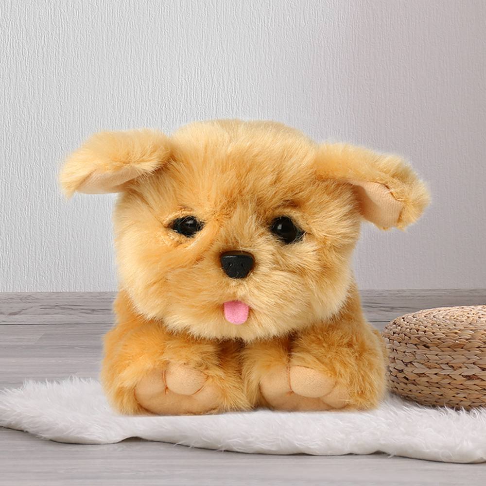 Fashion Electric Plush Toy Pet Dog Intelligent Voice Control Plush Toy Stuffed Animal Toys Dog Music Doll For Kid Birthday Gift