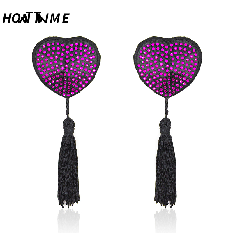 Hot Sale Sex Toys Bondage Diamond Milk Paste Fetish Flirt Sex Heart Nipple Adult Games Sex Erotic Toys For Women