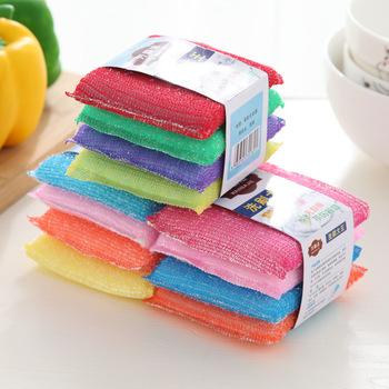 4 sztuk gąbka do mycia szczotka ściereczka kuchenna gąbka do mycia naczyń gąbka do mycia Pan do mycia naczyń tkaniny domu czyste narzędzie akcesoria podkładka do czyszczenia tanie i dobre opinie CN (pochodzenie) Sponges Ekologiczne Na stanie cleaning About 2 5G each random