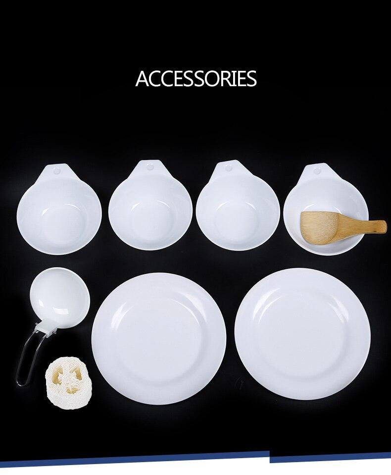 panelas piquenique pan chaleira pote tigela viagem utensílios de mesa