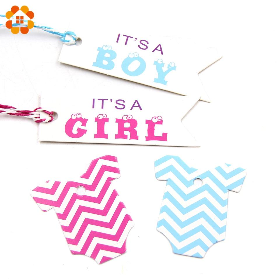 100PCS Roze & Blauw Papier Tags Papieren Kaart Tags Labels DIY Ambachten Hang Tag Voor Baby Birthday Party Decoraties baby Shower Benodigdheden