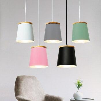 Wooden Nordic Pendant Lights Restaurant Light Fixtures E27 Aluminum Lampshade Pendant lamps For Home Lighting Hanging Lamp цена 2017