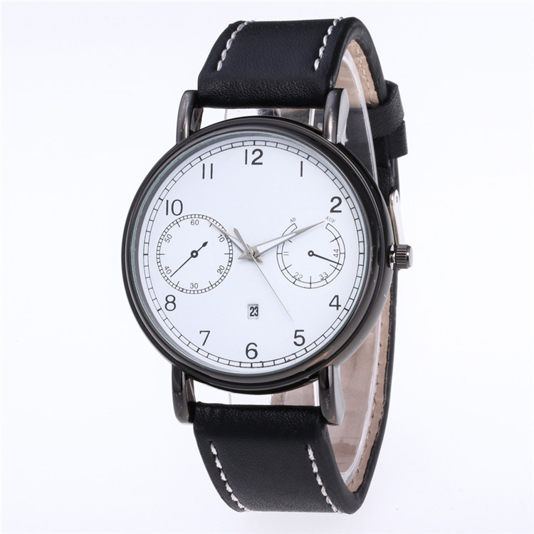 Beautifully Minimalist Fashion Belt Watch Multicolor Face Dial Scale Quartz Watch Eyes Watch With Calendar