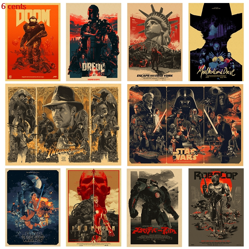 Various Movie Posters / Classic Movie Posters / Kraft Paper Posters / Kraft Posters / Retro Posters / Vintage Posters