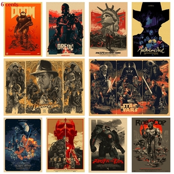 Various movie posters / classic movie posters / kraft paper posters / Kraft posters / retro posters / vintage posters top posters холст top posters 50х50х2см g 1033h