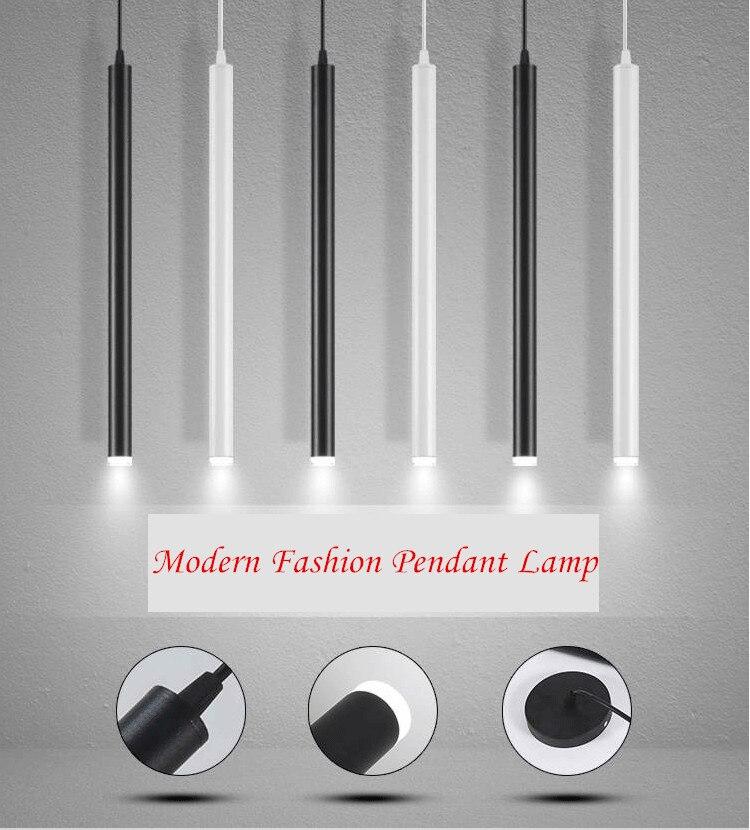 加长桶led吊线筒灯北欧餐厅射灯吧台LED长筒吊灯简约现代圆柱桶灯-淘宝网_01