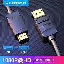 Przedłużacz DisplayPort do HDMI kabel 1080P DP do HDMI kabel Port wyświetlacza wtyk męski do HDMI męski Adapter dla projektor HDTV DP na HDMI