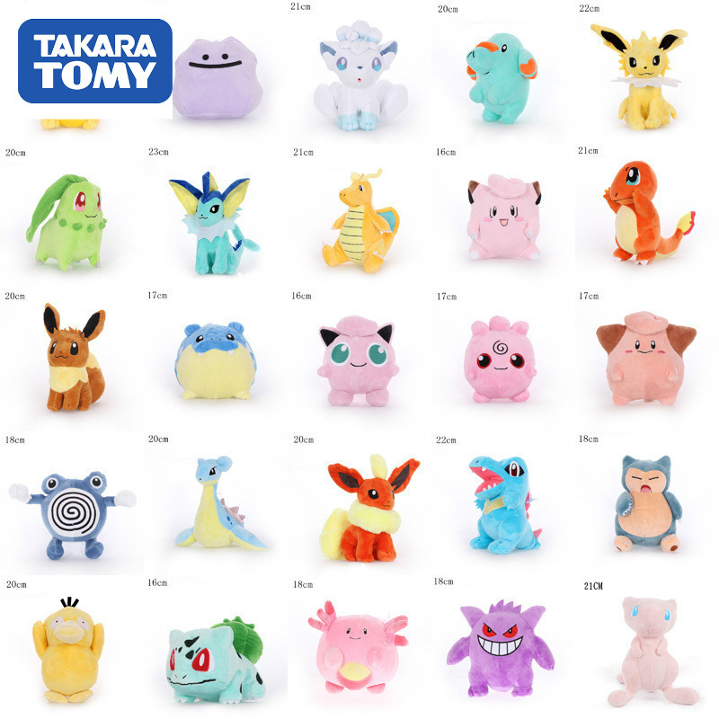 40 Styles TAKARA TOMY Pokemon Original Pikachu Squirtle Stuffed Hobby Anime Plush Doll Toys For Children Christmas Event Gift
