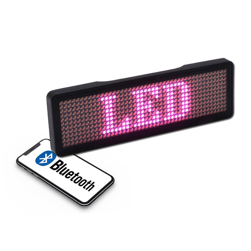 Bluetooth APP Control LED Name Badge Activity Event Promotion Company Employee Staff Electronic Scrolling Text LED Flash Badge