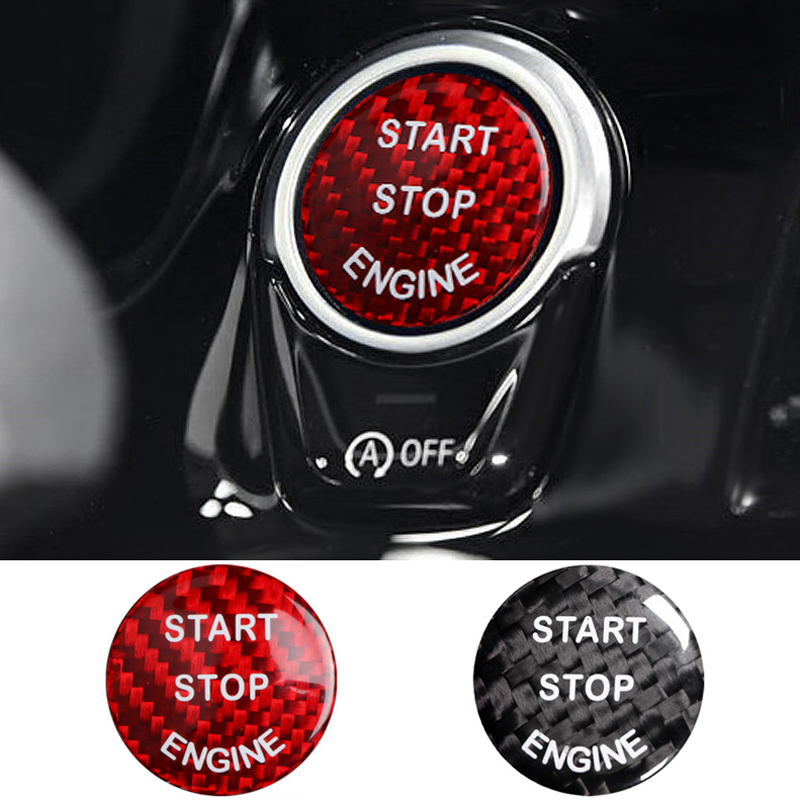 Auto Accessories Car Engine Button Switch Replace Cover <font><b>Cap</b></font> Sticker for <font><b>BMW</b></font> X5 5 E53 E70 G30 F30 F10 E39 E36 E46 E60 E87 <font><b>E90</b></font> image