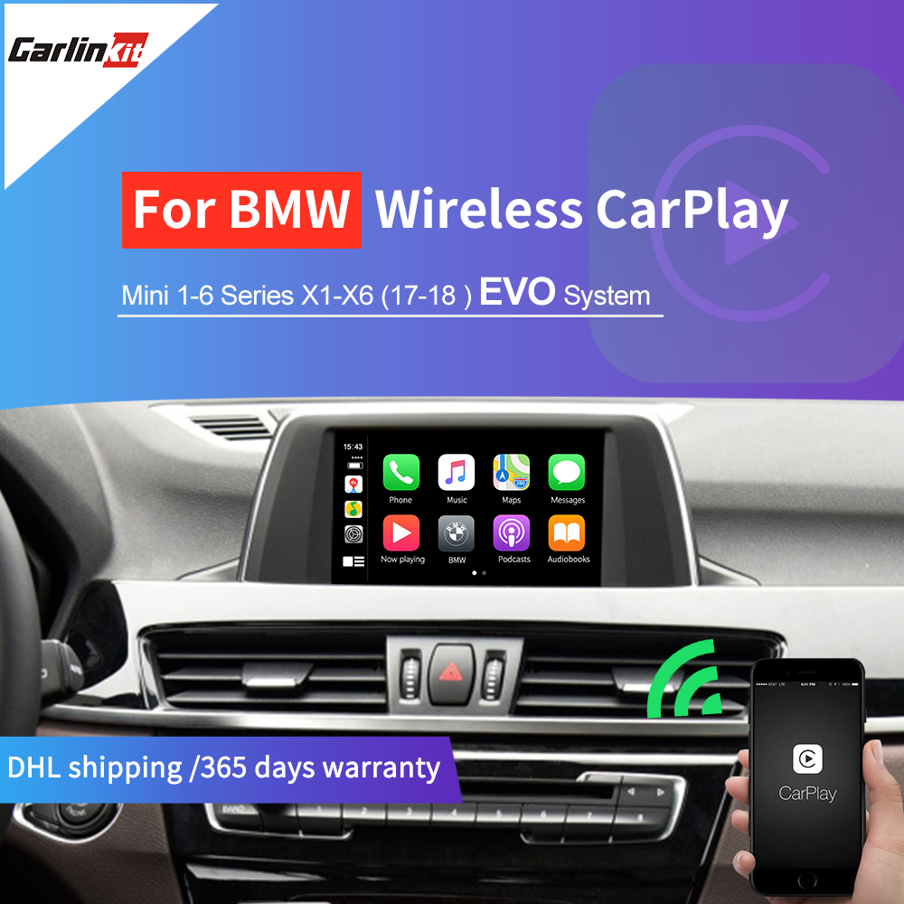 X1//X2//X3//X4//X5//X6//MINI Support iOS13 AirPlay Multi-Window Screen Carlinkit Wireless Carplay//Wired Android Auto for BMW Modified Carplay Module Compatible with BMW NBT System 1//2//3//5//7 Series