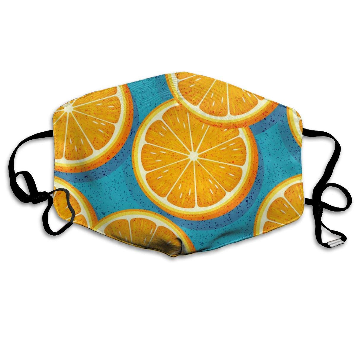 Mouth Mask Fresh Orange Fruit Print Masks - Breathable Adjustable Windproof Mouth-Muffle, Camping Running For Women And Men