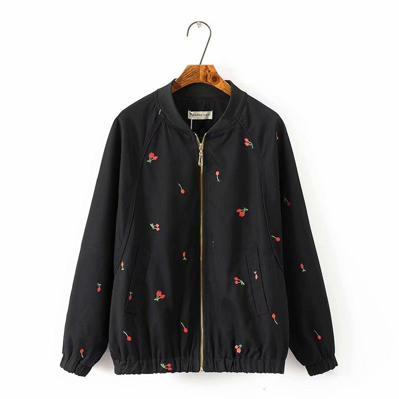 Plus size black & light green tangerine collar cotton women   basic     jackets   spring spring bomber   jacket   women 5XL