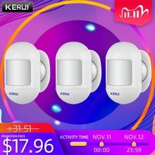 KERUI 3Pcs Wireless Mini Safety PIR Motion Sensor Alarm Detector With magnetic swivel base Home Alarm System