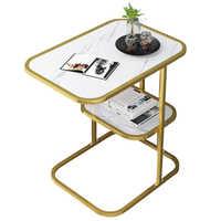 Скандинавский Маленький журнальный столик, диван, столик для гостиной, простой маленький круглый стол, маленькая квартира, домашний прикро...