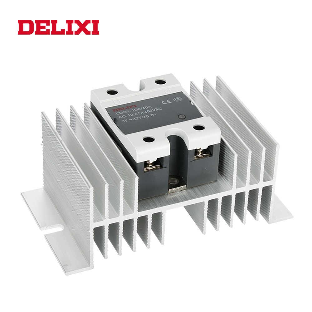 DELIXI CDG1 relé de estado sólido SSR AA 60AA 80AA 100AA 80-280V CA a 24-480V AC SSR monofásico Control AC sin relé de contacto