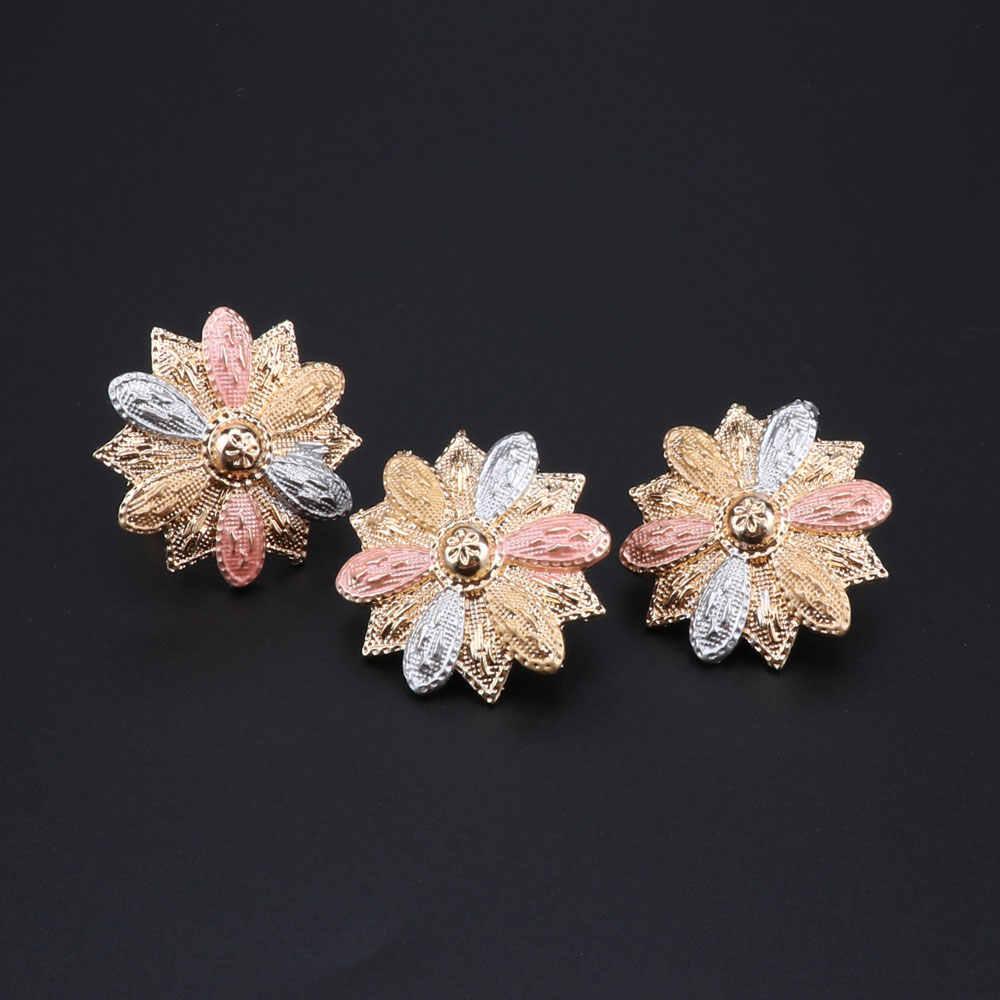 Mode mariée mariage collier boucles d'oreilles Bracelet anneau ensemble pour mariées fête accessoires fleurs Costume décoration cadeaux femmes