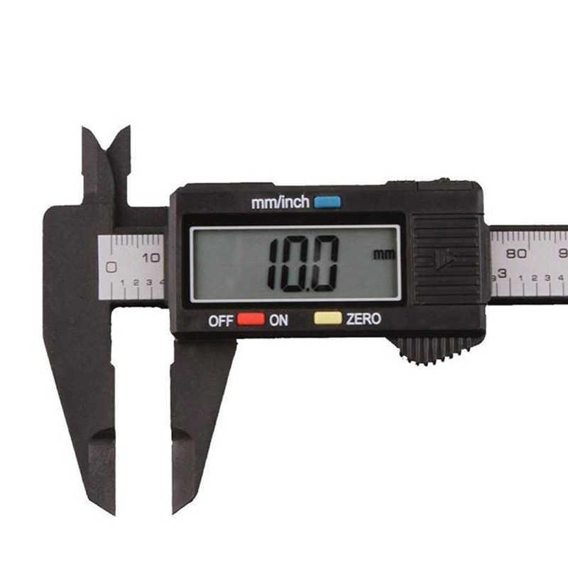 150 Mm 6 Inch Màn Hình LCD Kỹ Thuật Số Điện Tử Sợi Carbon Vernier Caliper Đo Micromet Đo Dụng Cụ