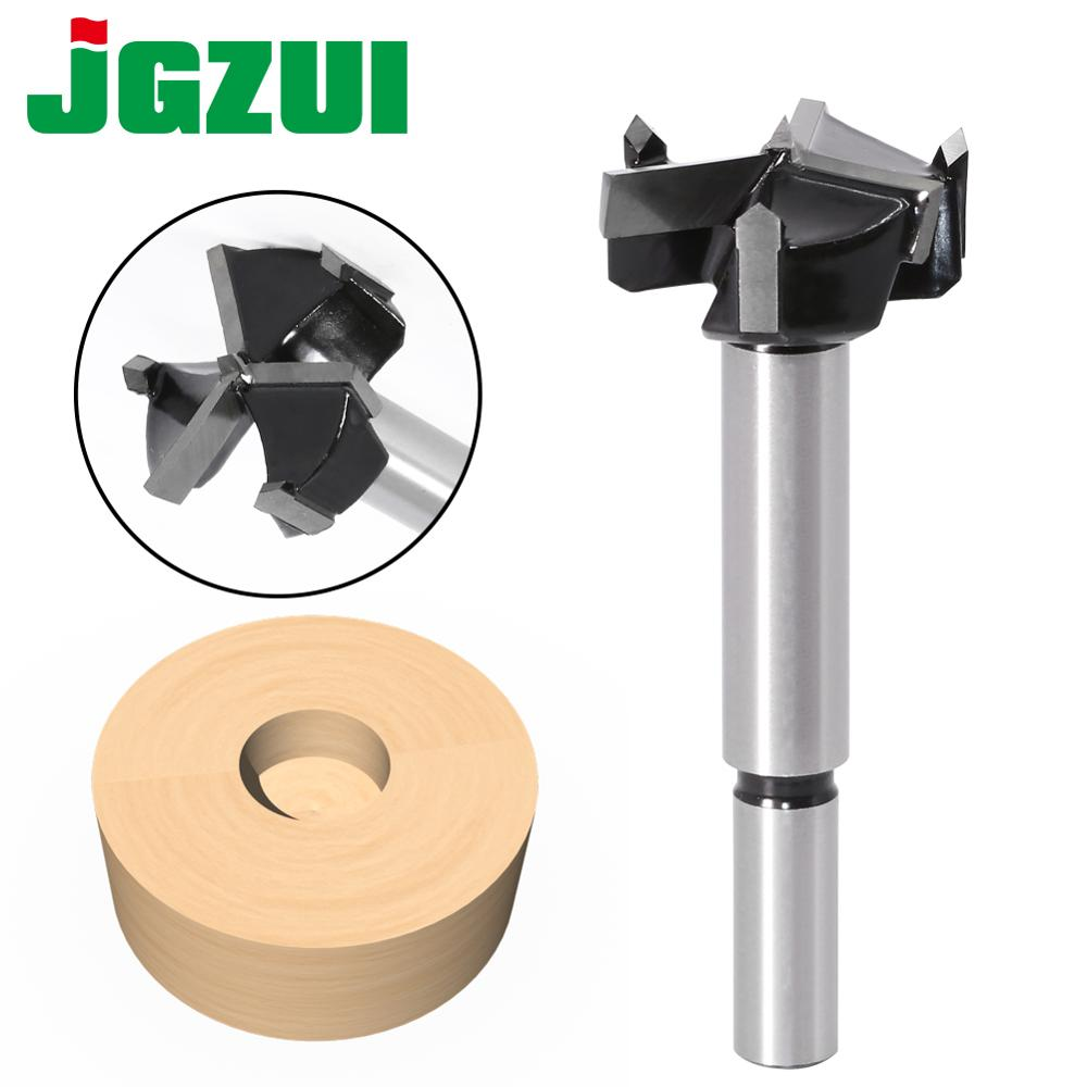 1pcs 35mm 3 Teeth Forstner Tips Woodworking Tools Hole Saw Cutter Hinge Boring Drill Bits Round Shank Tungsten Carbide Cutter