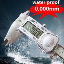 Calibre eletrônico do micrômetro da espessura da pinça de digitas do mícron da prova 0.005mm 150mm da água ip54 da precisão de terma 300mm