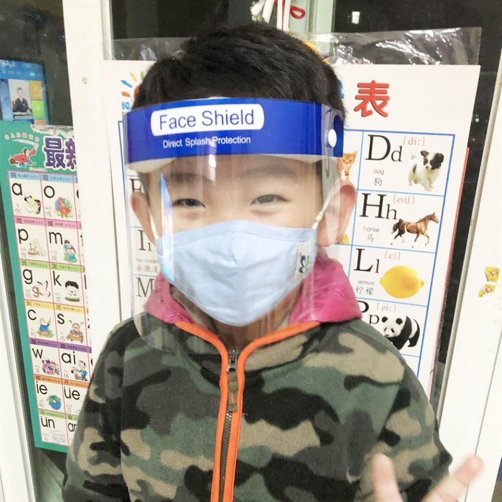 Kids Clear Anti-fog Anti-spitting Splash Dust-proof Protective Visor Full Face Covering Mask Shield  Prevent Splashing