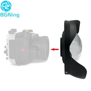 Image 1 - BGNing Tauchen Fisheye Weitwinkel Objektiv 0,7 Verstärkung M52/M67/M 100 für Sony A6 TG5 TG6 Kamera objektiv Haube 100m/300ft Wasserdicht
