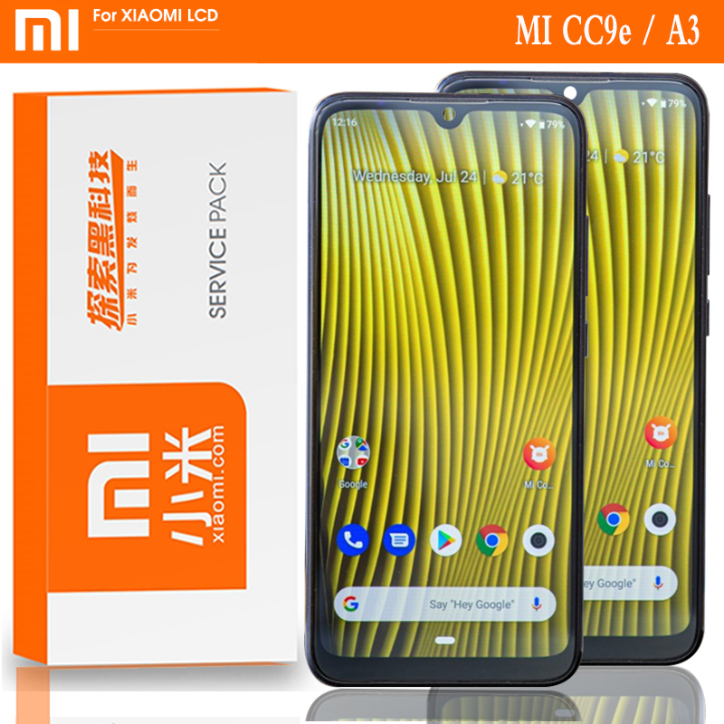 """Original 6.088"""" Super Amoled LCD Replacement for XiaoMi Mi A3 Screen CC9e Display Touch Digitizer with Frame Oleophobic coating(China)"""