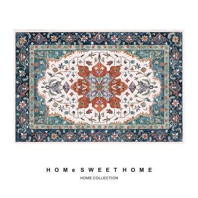 Livraison gratuite tapis de bain Rectangle bleu européen/tapis de maison délicat/tapis de sol de chambre à coucher quatre tailles absorbant paillasson antidérapant - 4