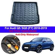 Auto Carด้านหลังกระเป๋าเดินทางMat CargoถาดถาดพรมProtectorชั้นสำหรับAudi Q5 SQ5 FY 2018 2019 anti สกปรกAnti Water