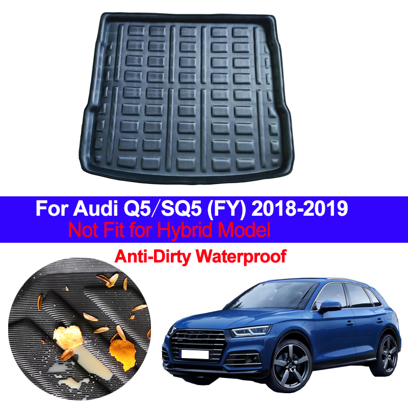 Auto Car Rear Trunk Luggage Mat Cargo Tray Boot Liner Carpet Protector Floor For Audi Q5 SQ5 FY 2018 2019 Anti-dirty Anti-Water
