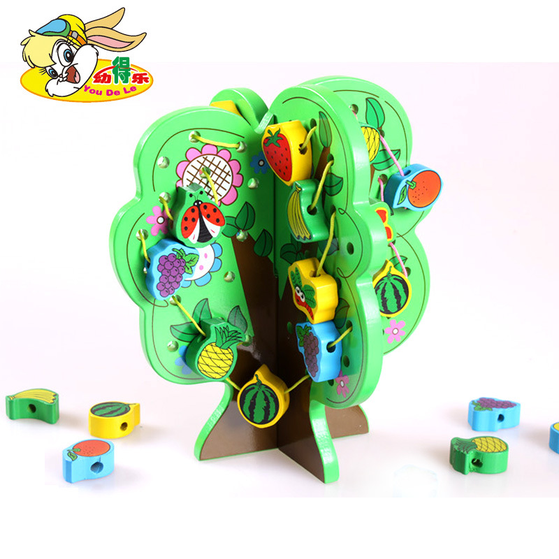 Customizable Children Wooden String Of Wisdom Tree Threading Hands-on Educational Early Childhood CHILDREN'S Toy Agent