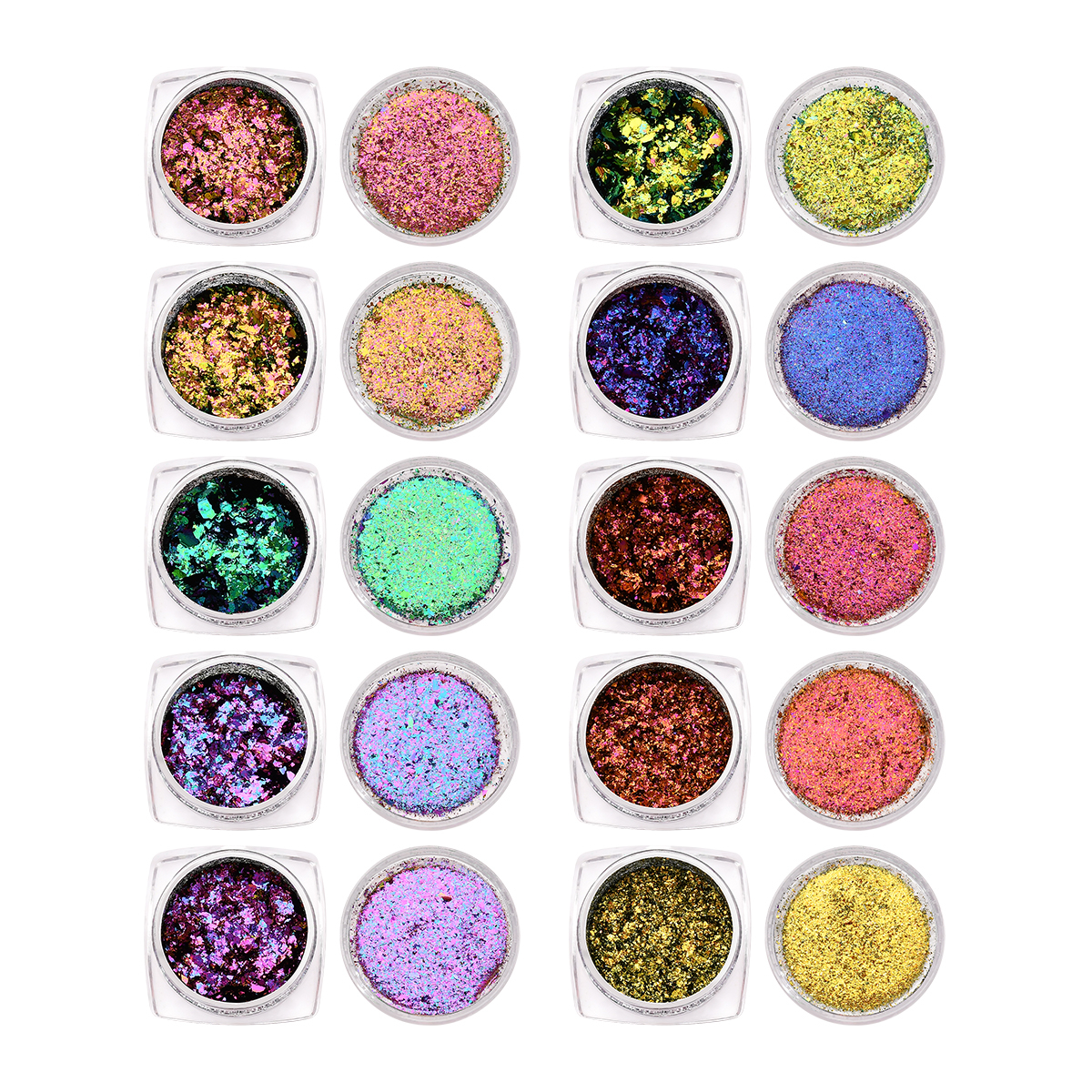BeautyBigBang 0.1g Chameleon Effect Flake Nails Art Accessories Sequins Mirror Powder Chrome Pigment Holographic Glitter