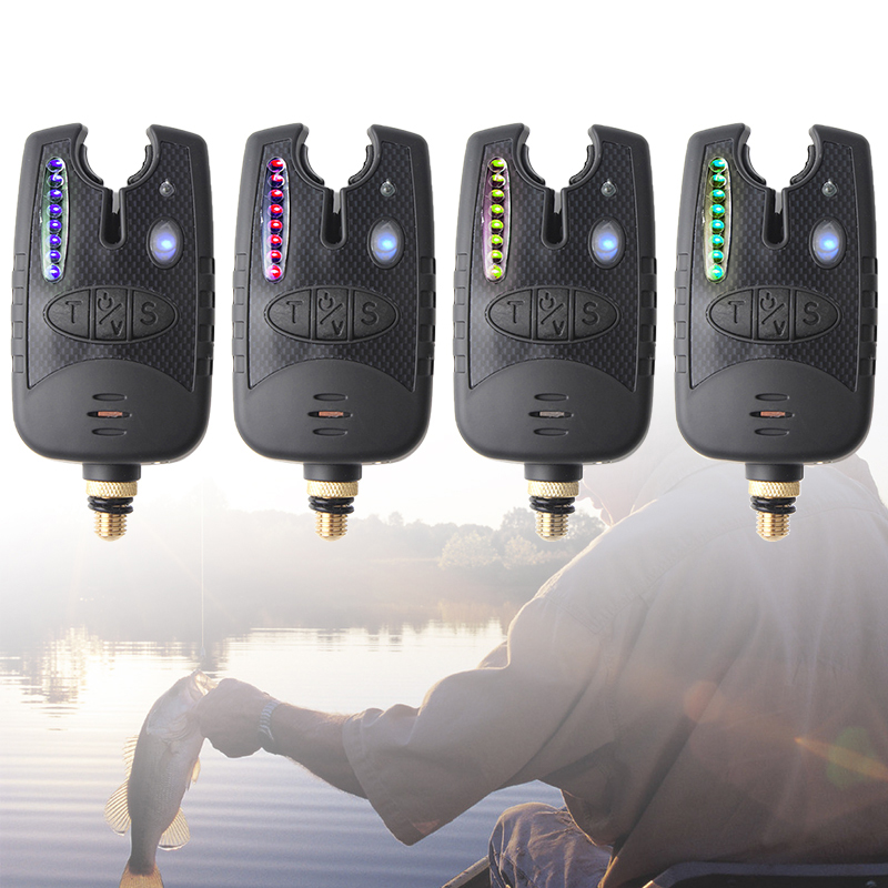 Wireless Carp Fishing Signal Fishing Bite Alarm  8 LED With Fishing Swingers Indicator Adjustable Tone Volume Sensitivity Sound