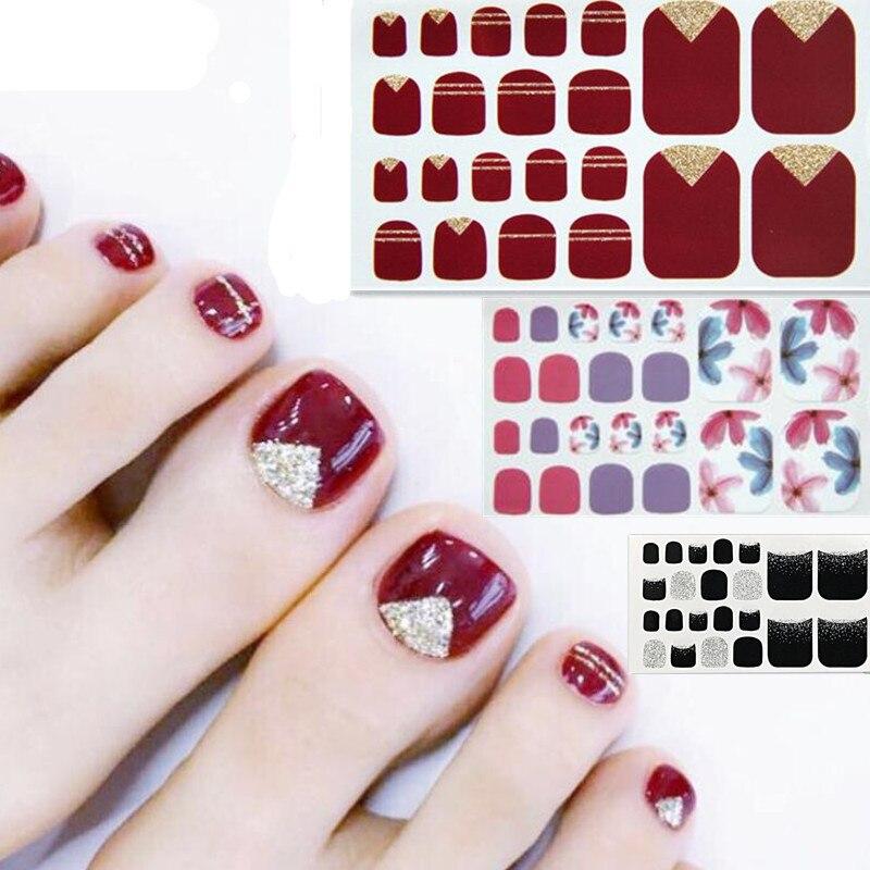 ALI shop ...  ... 32911751801 ... 2 ... 22tips Korea/Japanese Designed Toenail Sticker Full Cover Waterproof Nail Sticker Wraps Toe Nail  DIY Nail Art unas Nail Sticker ...