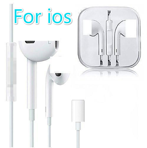 For Iphone 7 In Ear Stereo Earpiece With Microphone Wired Bluetooth Earphone For Iphone 8 7 Plus X Xr Xs Max 11 Bluetooth Earphones Headphones Aliexpress