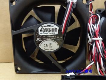 Zyvpee TOP MOTOR 8025 DF128025SL-3 DC12V 0.17A 3 wires 3 pins 8CM case fan cooling fan
