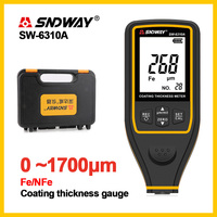 SNDWAY Digital Thickness Guage Paint Film Coating Tester Thickness gauges SW 6310A 0~1700um Auto Paint Thickness Gauge