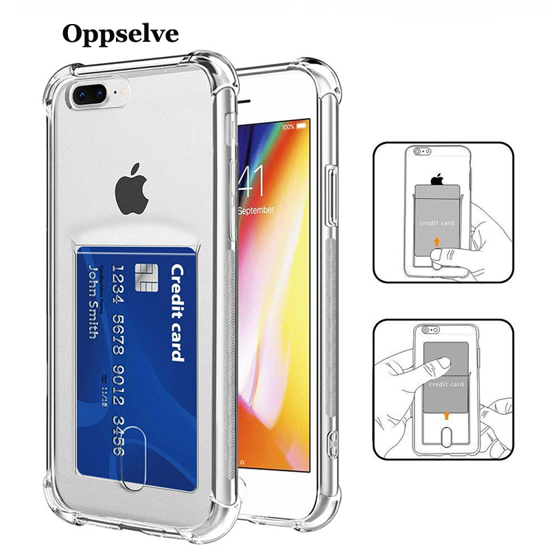 Luxury Card Case For iPhone 11 X XS 8 7 6 SE Plus Capinha Ultra Thin Slim Soft TPU Silicone Cover Case For iPhoneX Coque Fundas